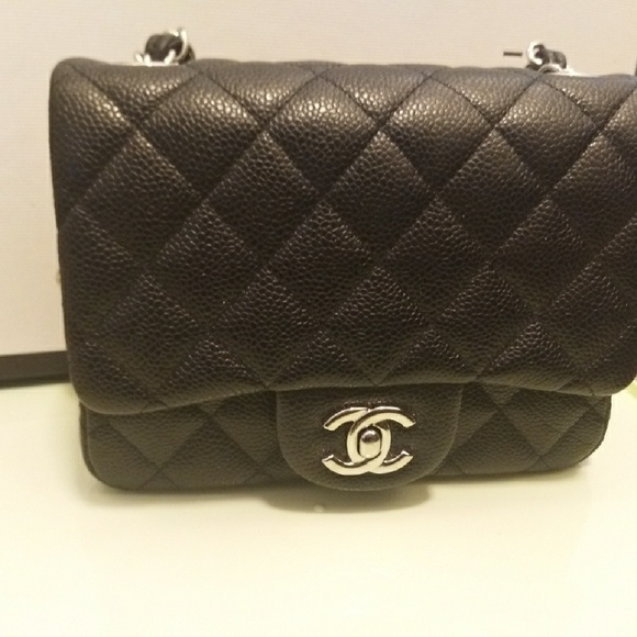 1ded8858adb9 CHANEL Handbags - 100% authentic Chanel mini square/black